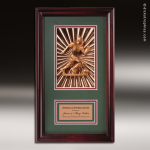 Engraved Framed Plaque Roman Edge Soccer Male Wall Placard Award Soccer Trophies