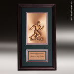 Corporate Framed Plaque Roman Edge Soccer Male Wall Placard Award Soccer Trophies