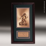 Corporate Framed Plaque Roman Edge Soccer Female Wall Placard Award Soccer Trophies