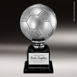 Premium Resin Large Silver Soccer Ball Trophy Award Soccer Trophies