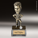 Resin Antique Bobble Head Series Soccer Male Trophy Award Soccer Trophies