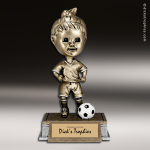 Resin Tyke Bobble Head Series Soccer Female Trophy Award Soccer Trophies