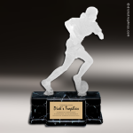 Resin Frosted Action Series Soccer Female Trophy Award Soccer Trophies
