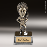 Resin Antique Bobble Head Series Soccer Female Trophy Award Soccer Trophies
