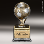 Resin Antique Ball Pedestal Series Soccer Trophy Award Soccer Trophies