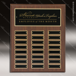 The Paciolla Laminate Cherry Perpetual Plaque  24 Black Plates Sponsor - Memorial - Donor Plaques