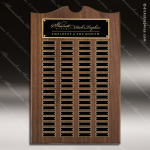 The Trevett Walnut Arch Perpetual Plaque  72 Black Plates Sponsor - Memorial - Donor Plaques