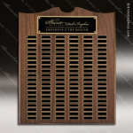 The Trevett Walnut Arch Perpetual Plaque 120 Black Plates Sponsor - Memorial - Donor Plaques
