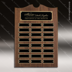 The Trevett Walnut Arch Perpetual Plaque  24 Black Plates Sponsor - Memorial - Donor Plaques