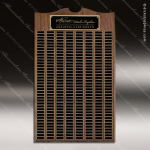 The Trevett Walnut Arch Perpetual Plaque 270 Black Plates Sponsor - Memorial - Donor Plaques