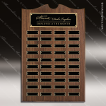 The Trevett Walnut Arch Perpetual Plaque  40 Black Plates Sponsor - Memorial - Donor Plaques