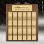 The Trenholm Walnut Arched Perpetual Plaque 150 Gold Plates Sponsor - Memorial - Donor Plaques