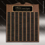 The Trevett Walnut Arch Perpetual Plaque 200 Black Plates Sponsor - Memorial - Donor Plaques