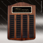 The Melrose Walnut Perpetual Arch Plaque  48 Black Plate Sponsor - Memorial - Donor Plaques
