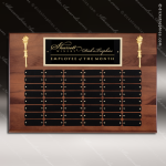 The Mercarda Walnut Perpetual Plaque  48 Black Plates Sponsor - Memorial - Donor Plaques