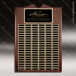 The Mendia Walnut Piano Finish Perpetual Arch Plaque 120 Black Plates Sponsor - Memorial - Donor Plaques