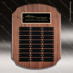 The Melrose Walnut Perpetual Arch Plaque  24 Black Plate Sponsor - Memorial - Donor Plaques