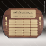 The Melrosa Walnut Perpetual Arch Plaque  24 Gold Plates Sponsor - Memorial - Donor Plaques