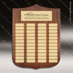 The Melrosa Walnut Perpetual Arch Plaque  36 Gold Plates Sponsor - Memorial - Donor Plaques