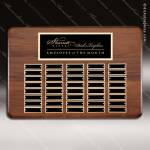 The Mercarda Walnut Perpetual Plaque  40 Black Plates Sponsor - Memorial - Donor Plaques