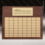The Mellado Walnut Perpetual Plaque  80 Gold Plates Sponsor - Memorial - Donor Plaques