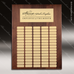 The Mellado Walnut Perpetual Plaque  75 Gold Plates Sponsor - Memorial - Donor Plaques