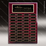 The Marceno Rosewood Perpetual Plaque  40 Black Plates Sponsor - Memorial - Donor Plaques