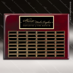 The Marceno Rosewood Perpetual Plaque  48 Black Plates Sponsor - Memorial - Donor Plaques