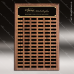 The Todesco Walnut Perpetual Plaque  90 Black Plates Sponsor - Memorial - Donor Plaques