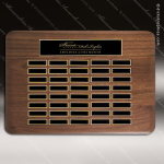 The Tofollla Walnut Perpetual Plaque  40 Black Plates Sponsor - Memorial - Donor Plaques