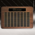 The Tofollla Walnut Perpetual Plaque 120 Black Plates Sponsor - Memorial - Donor Plaques
