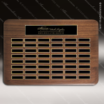 The Tofollla Walnut Perpetual Plaque  48 Black Plates Sponsor - Memorial - Donor Plaques