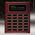 The Jagger Rosewood Perpetual Plaque  24 Black Plates Sponsor - Memorial - Donor Plaques
