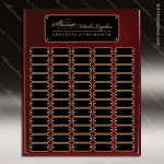The Jagger Rosewood Perpetual Plaque  60 Black Plates Sponsor - Memorial - Donor Plaques