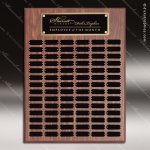 The Morvillo Laminate Walnut Perpetual Plaque  84 Black Plates Sponsor - Memorial - Donor Plaques