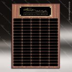 The Morvillo Laminate Walnut Perpetual Plaque  80 Black Plates Sponsor - Memorial - Donor Plaques