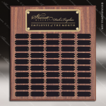The Morvillo Laminate Walnut Perpetual Plaque  50 Black Plates Sponsor - Memorial - Donor Plaques