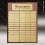 The Morvilla Laminate Walnut Perpetual Plaque  80 Gold Plates Sponsor - Memorial - Donor Plaques