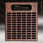 The Morvillo Laminate Walnut Perpetual Plaque  72 Black Plates Sponsor - Memorial - Donor Plaques