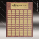 The Morvilla Laminate Walnut Perpetual Plaque 102 Gold Plates Sponsor - Memorial - Donor Plaques