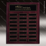 The Mottilla Mahogany Perpetual Plaque  24 Black Magnet Plates Sponsor - Memorial - Donor Plaques