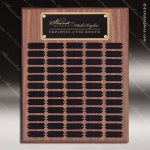 The Morvillo Laminate Walnut Perpetual Plaque  60 Black Plates Sponsor - Memorial - Donor Plaques