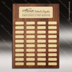 The Mercardo Walnut Perpetual Plaque 40 Gold Plates Sponsor - Memorial - Donor Plaques