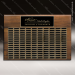 The Mercarda Walnut Perpetual Plaque 240 Black Plates Sponsor - Memorial - Donor Plaques