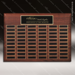 The Micheli Walnut Perpetual Plaque  48 Black Plates Sponsor - Memorial - Donor Plaques