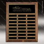 The Troyan Walnut Perpetual Plaque  24 Black Plates Sponsor - Memorial - Donor Plaques