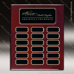 The Jagger Rosewood Perpetual Plaque  18 Black Plates Sponsor - Memorial - Donor Plaques