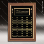 The Trisdale Walnut Framed Perpetual Plaque  36 Black Plates Sponsor - Memorial - Donor Plaques