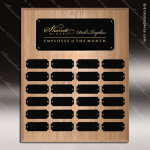 The Joffrion Laminated Oak Perpetual Plaque  24 Black Plates Sponsor - Memorial - Donor Plaques