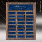 The Jordon Walnut Veneer Perpetual Plaque  24 Blue Magnet Plates Sponsor - Memorial - Donor Plaques